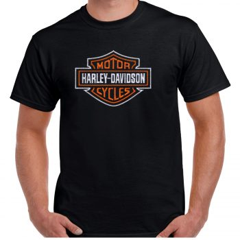 Harley Davidson Embroidered T-Shirt