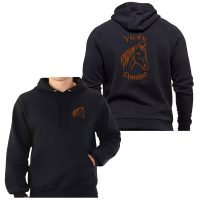 Horse Head Embroidered Hoodie