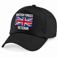 Embroidered Black B15 British Forces Veteran